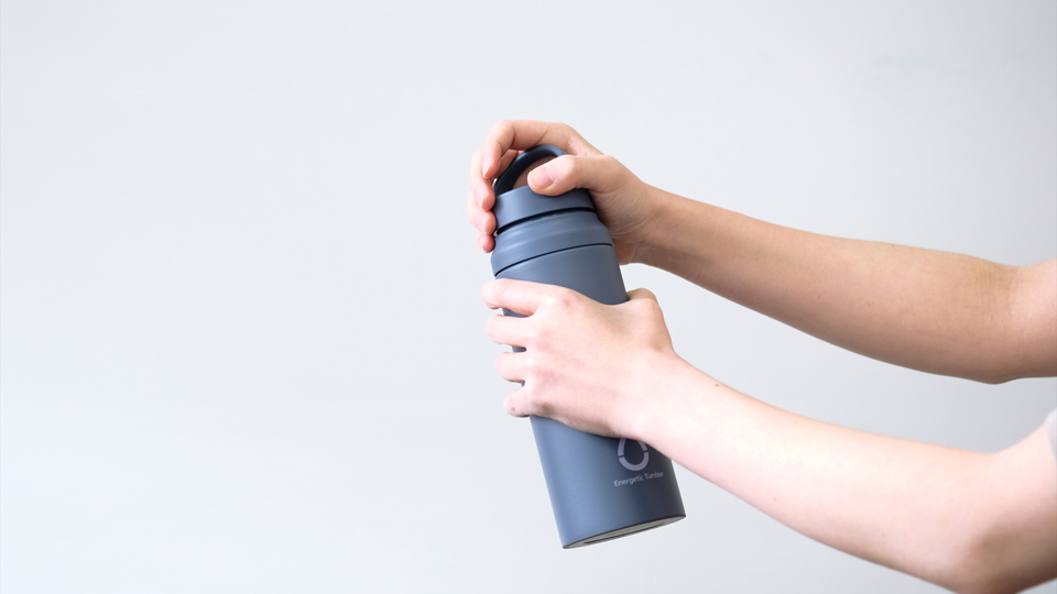 The Energetic tumbler for TIGER corporation by Kazuya Koike