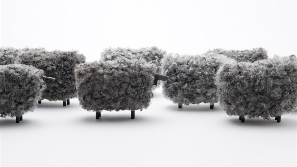 Iconic sheep ornament designed by Kazuya Koike