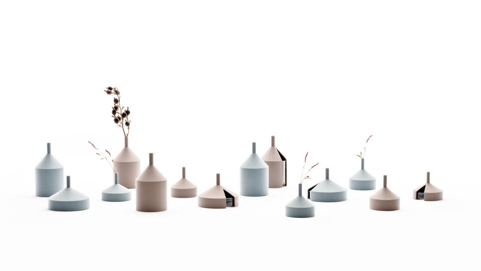 Unfinished vase designed by Kazuya Koike at fujitani shoten