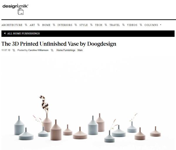 Unfinished vase by Kazuya Koike is featured on Design Milk.