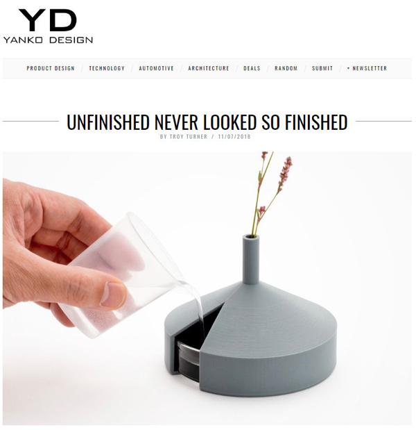 Unfinished vase by Kazuya Koike on YANKO DESIGN.